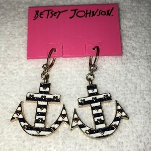 Betsy Johnson Anchor Earrings